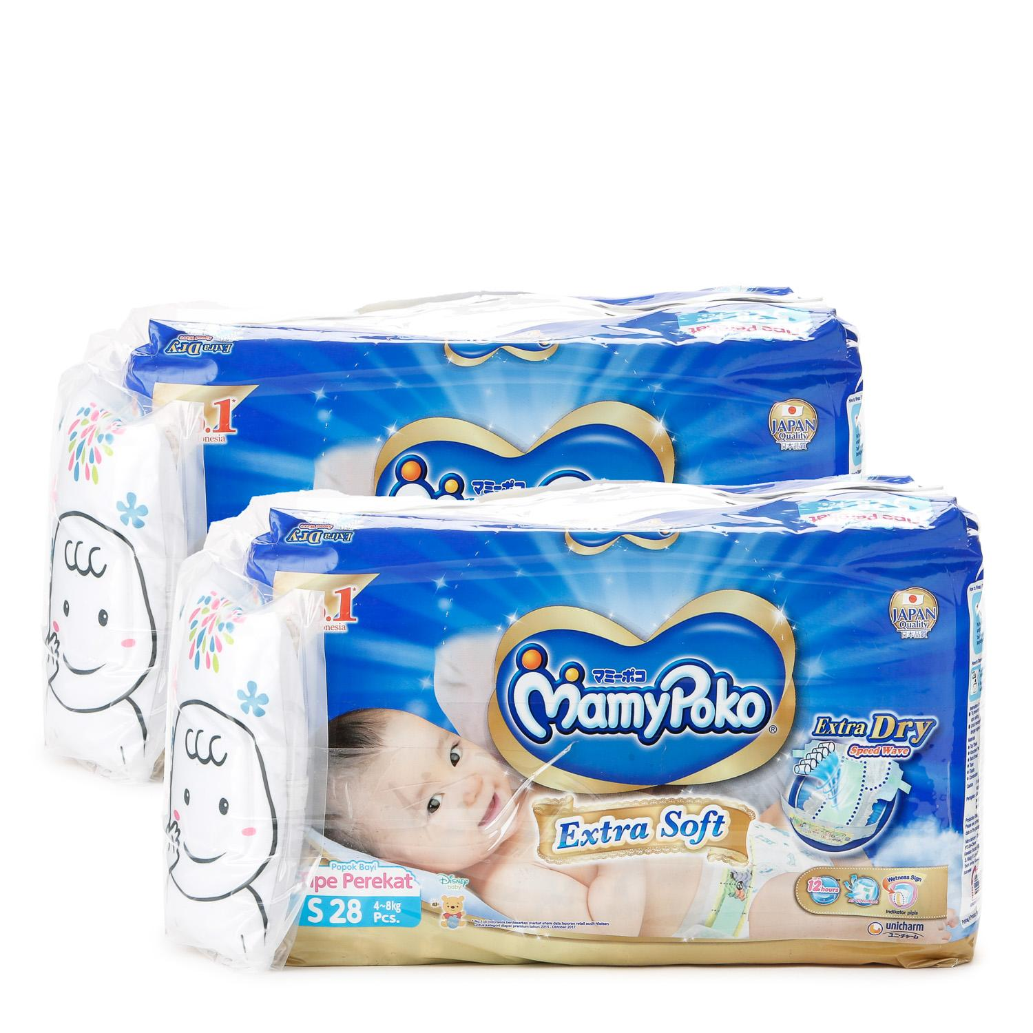 Mamy Poko 2-pack Extra Dry Tape Diaper Small 28pcs.