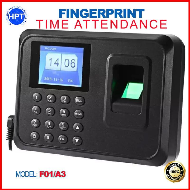 F01 / A3 TFT Biometric Fingerprint Time Attendance Clock Office Employee  Payroll Recorder