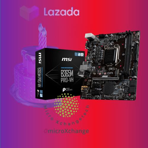 B365M PRO-VH MSI ProSeries Intel B365 Lga 1151 Support 9th//8th Gen Intel Processors Gigabit LAN DDR4 USB//VGA//HDMI Micro ATX Motherboard