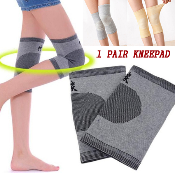 GUAIB Unisex Breathable Prevent Arthritis Bamboo Charcoal Sports Bandage Safety Knee Guard Gym Sleeve Knee Pads Support Protector