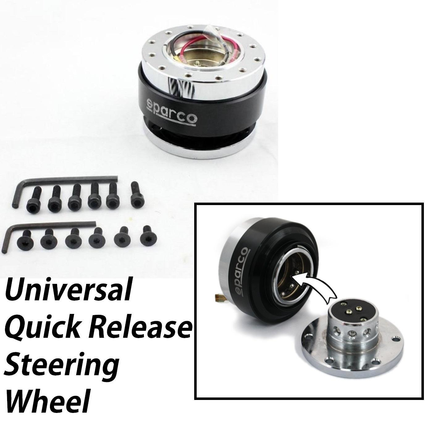 SPARCO Quick Release Boss Kit Hub Lock Joint Universal Steering Wheel Black