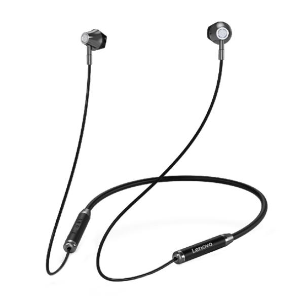Tai nghe không dây Lenovo HE06 BT5.0 Tai nghe đeo cổ từ tính có mic / Tai nghe thể thao âm thanh nổi 10 giờ Playtime dành cho chạy bộ trong phòng tập thể dục Tương thích với iOS / Android