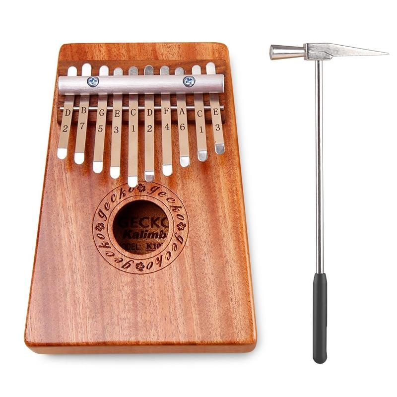 Kalimba 10 Key Thumb Piano with Tuning Hammer for Beginners C Tone