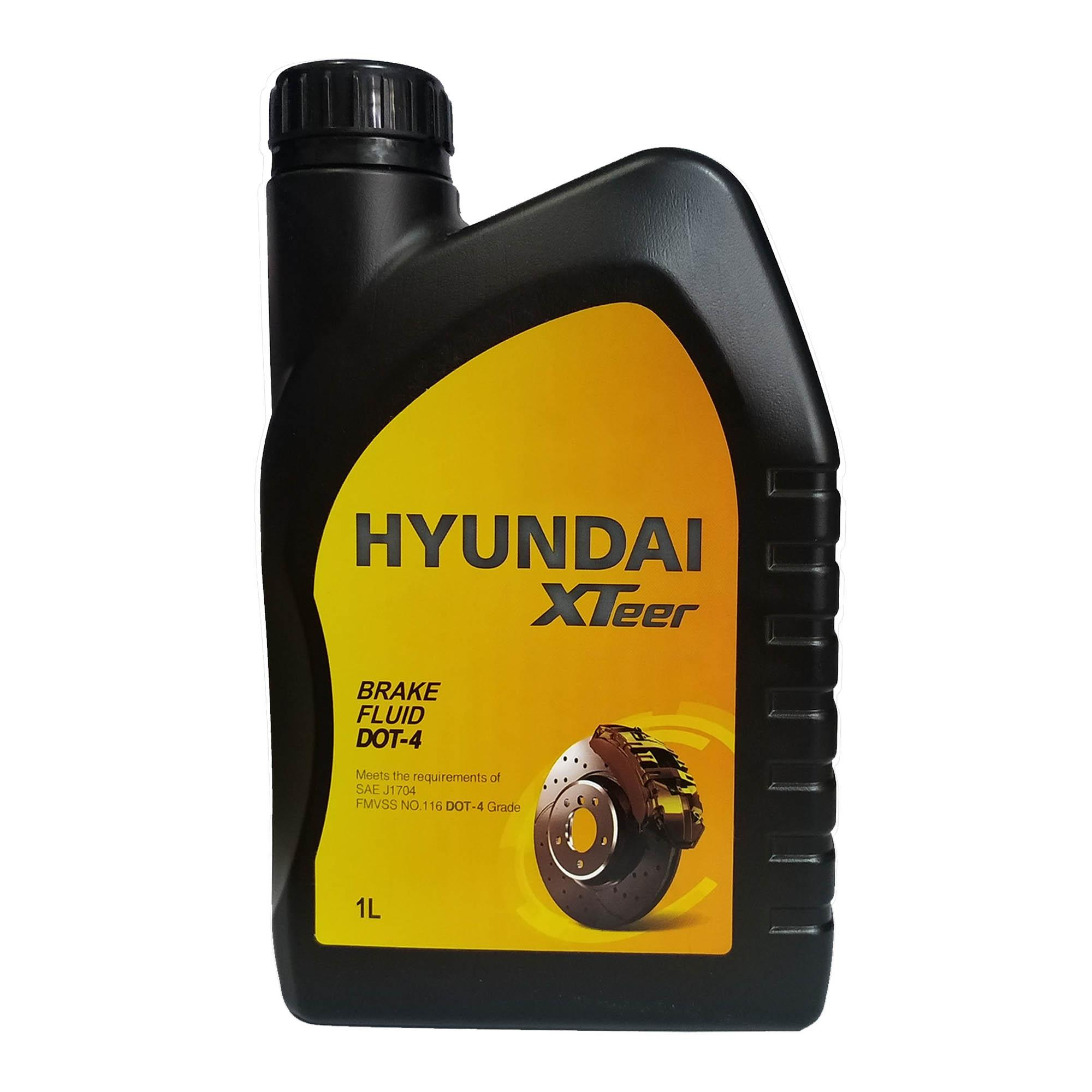 Hyundai Xteer Brake Fluid Dot 4 1l ( 1 Liter ) By Hobbies N Stuff.