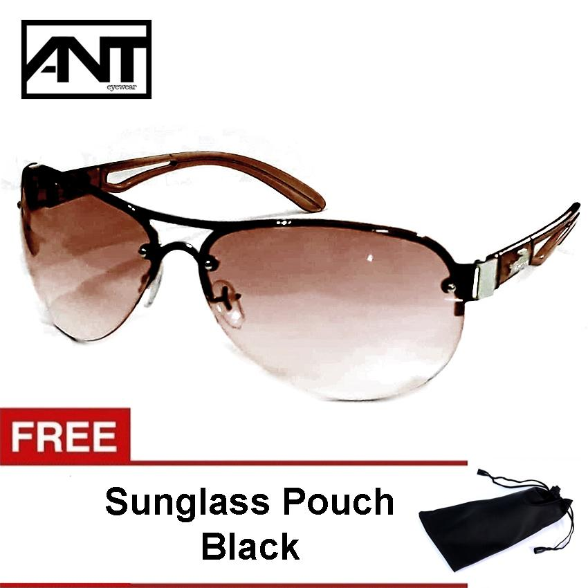 d452d604b5 ANT Aviator Sunglasses Fashion Shades Glasses For Women with Free Pouch  Brown 502