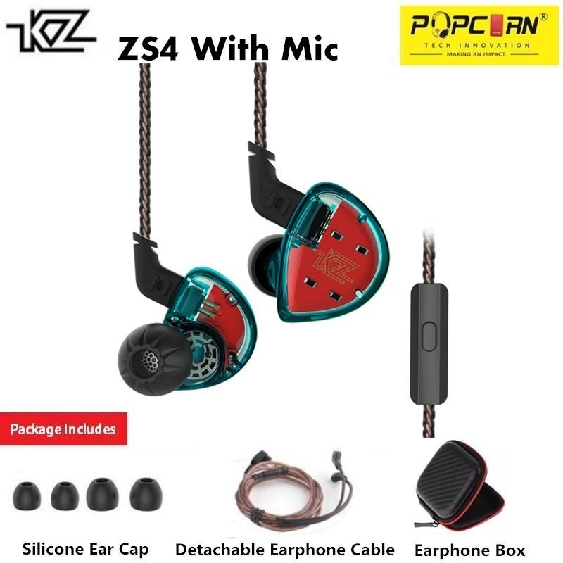KZ ES4 Super Bass Sport Computer Gaming Dynamic & Balanced Armature Hybrid Technology Driver In-