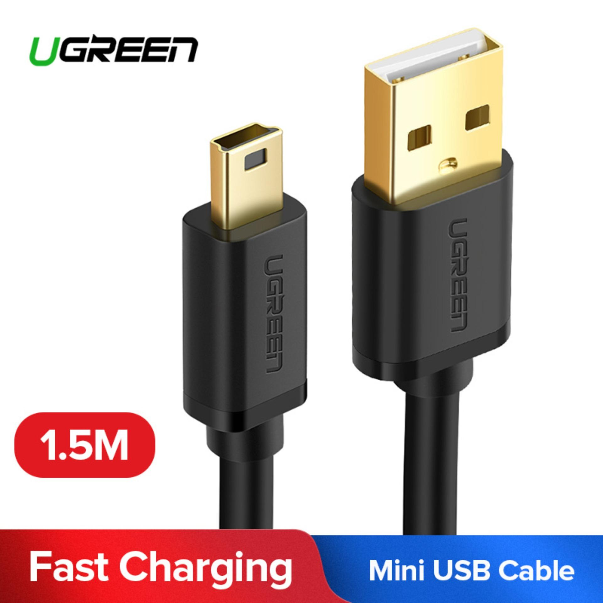 UGREEN USB 2.0 A Male to 5-Pin Mini B Fast Data Charger Cable for MP3 MP4 Players Tablets GPS Digital Camera HDD (1.5m) - Intl