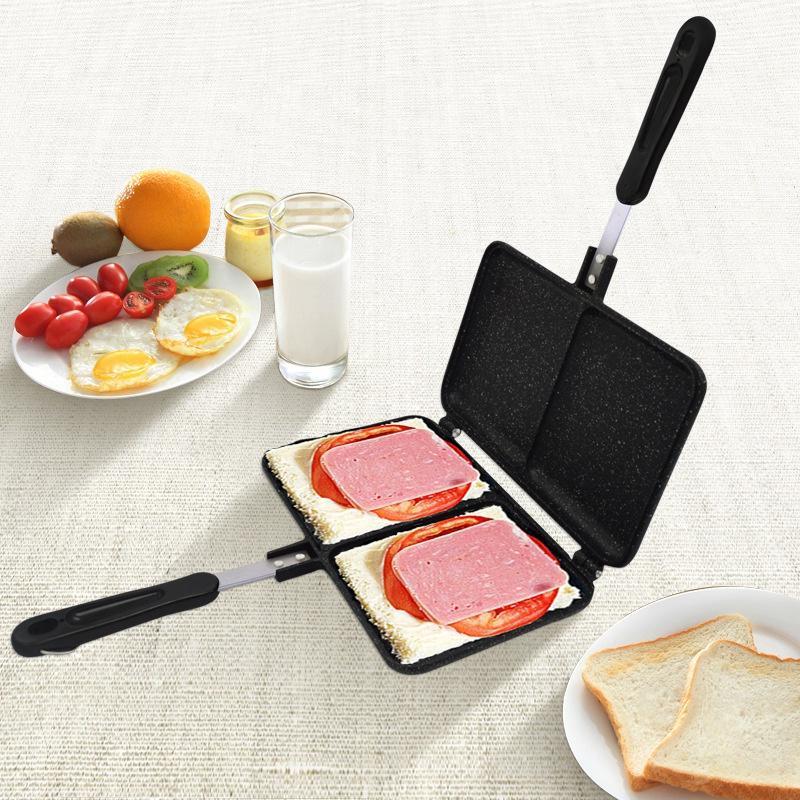 Sandwich Bread Double-Sided Baking Tray Non-Stick Pot Double-Sided Frying Pan Sandwich Breakfast Mold Toast Baking Tray