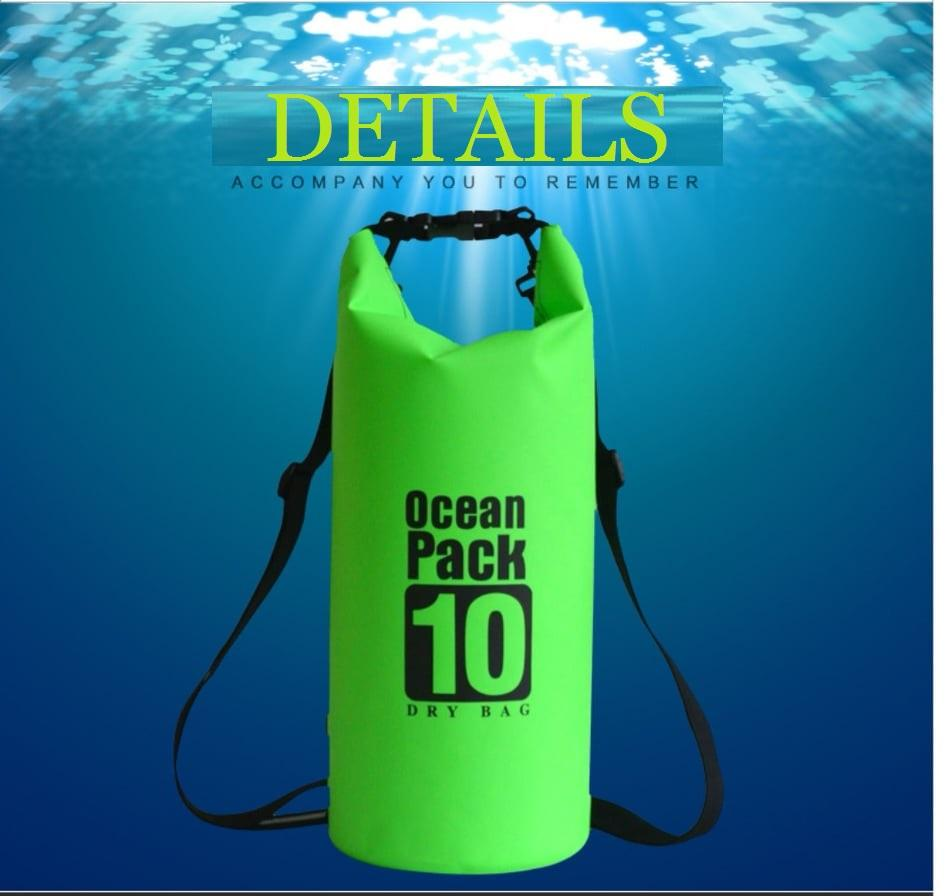 10L Waterproof Beach Storage Bag Waterproof Bucket Outdoor Drift Bag Camping Storage Bag for Swimming Raining Random Color image on snachetto.com
