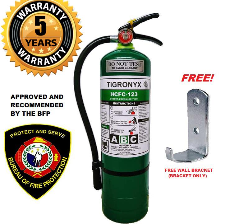 Fire Extinguisher 10lbs Hcfc-123 (green) 5 Years Expiration Refillable By Chadasan Fire Safety.
