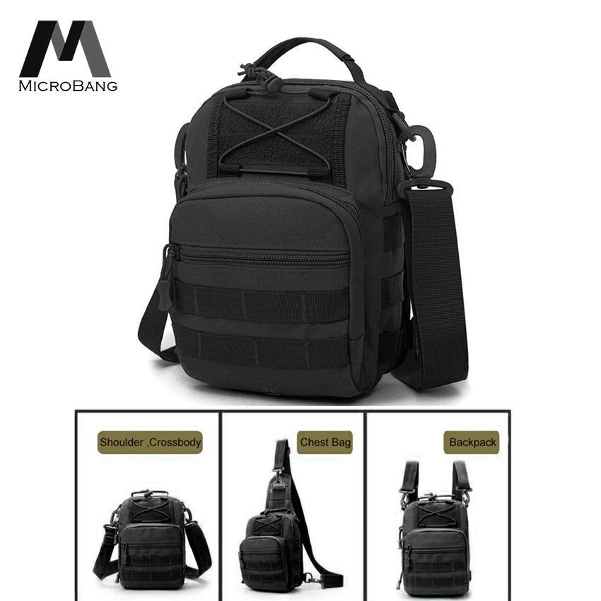 Canvas Sling Bag Chest Shoulder Backpack Tactical Military Crossbody Messenger