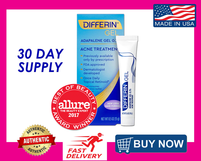 Differin Adapalene Gel 0 1 Prescription Strength Retinoid Acne
