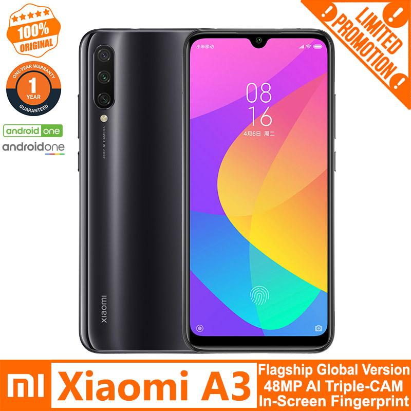 Xiaomi Mi A3 (4GB+64GB/ 4GB+128GB) Official Global Version, Dual Sim LTE,  48MP AI Triple-Camera, In-screen Fingerprint Sensor, Snapdragon™ 665 AIE