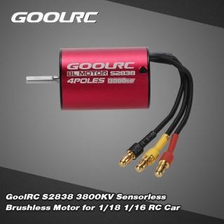 GoolRC S2838 3800KV Sensorless Brushless Motor for 1 18 1 16 RC Car thumbnail