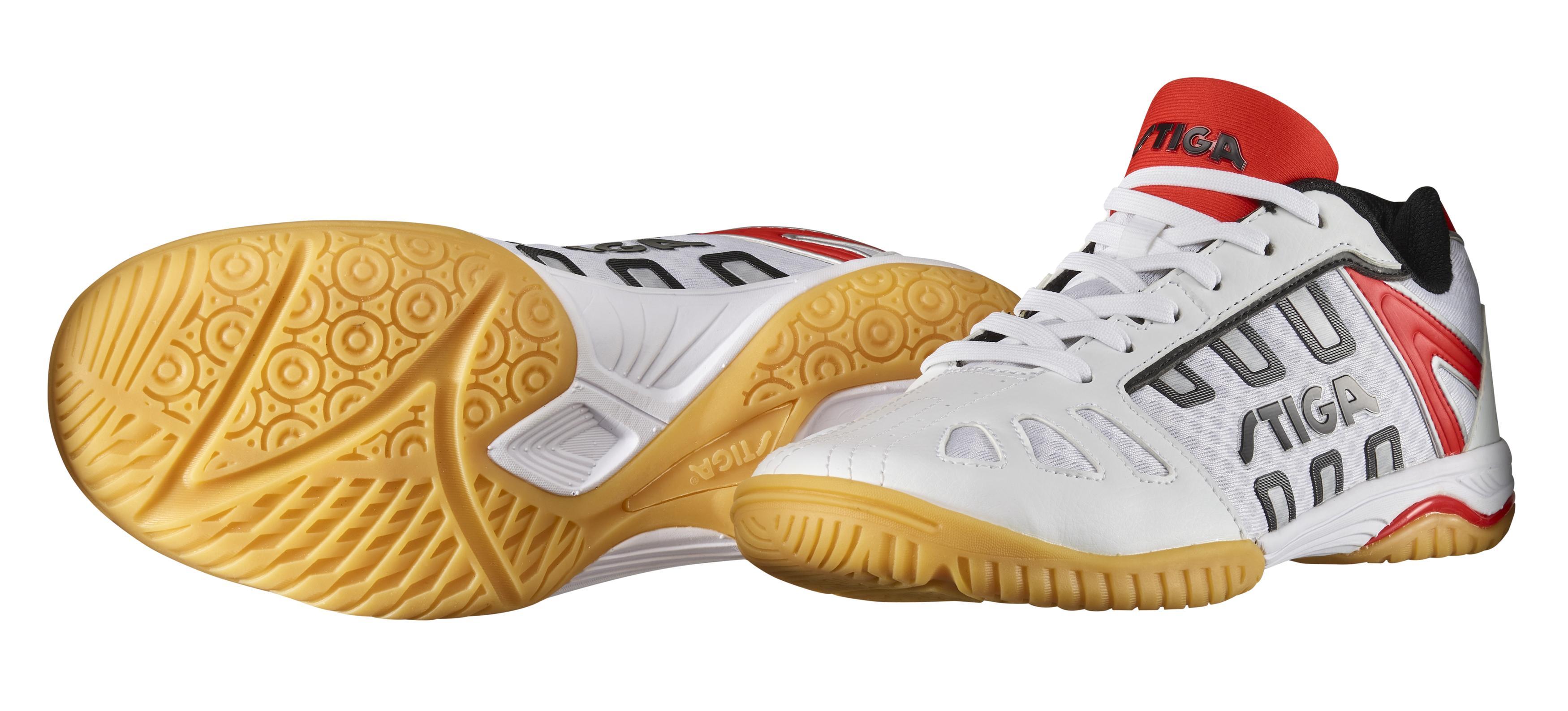 56505661c90c6 Stiga Liner II Table Tennis Shoe (White/Red)