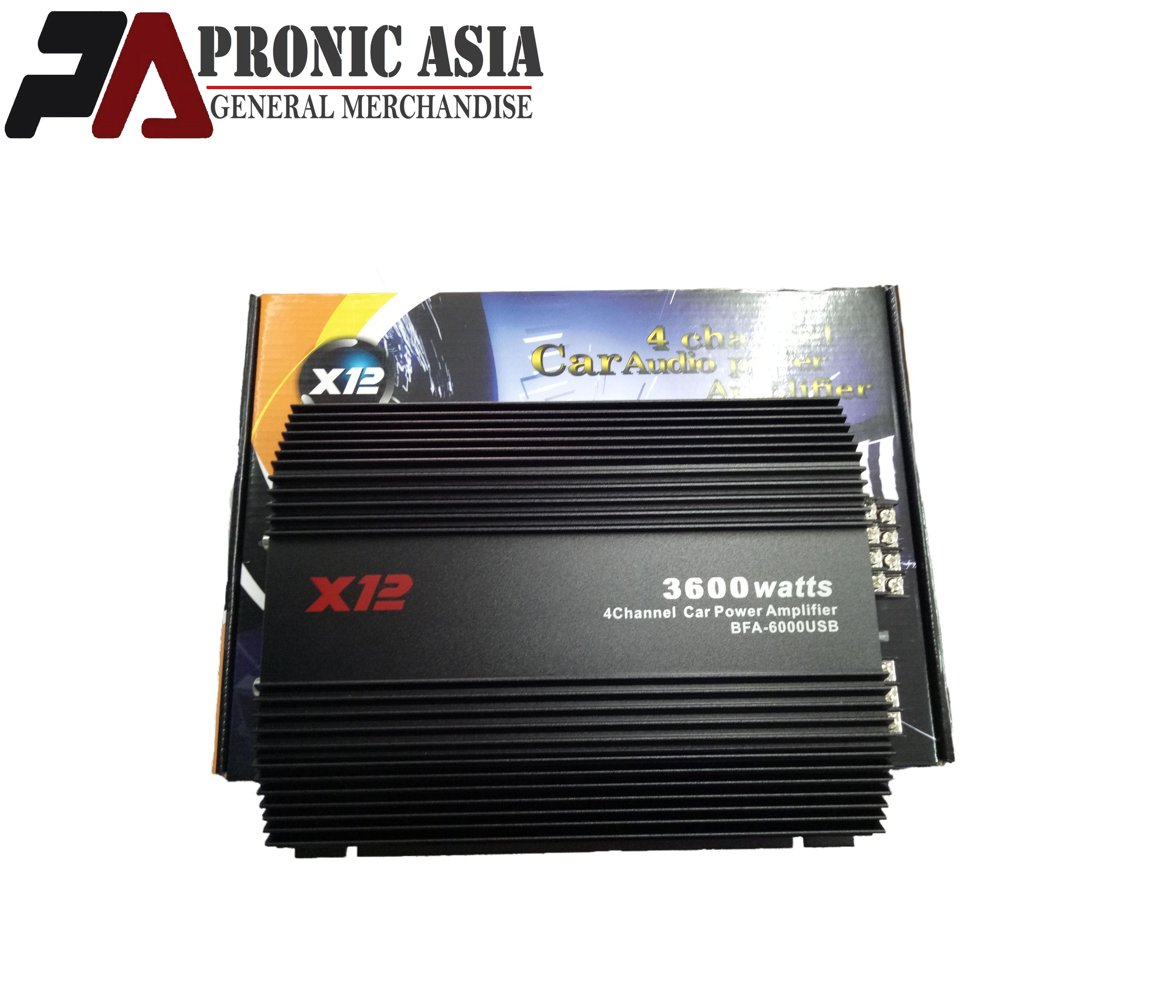 X12 BFA-6000BT 3600 watts 4 channel Power Amplifier w/ USB, Bluetooth