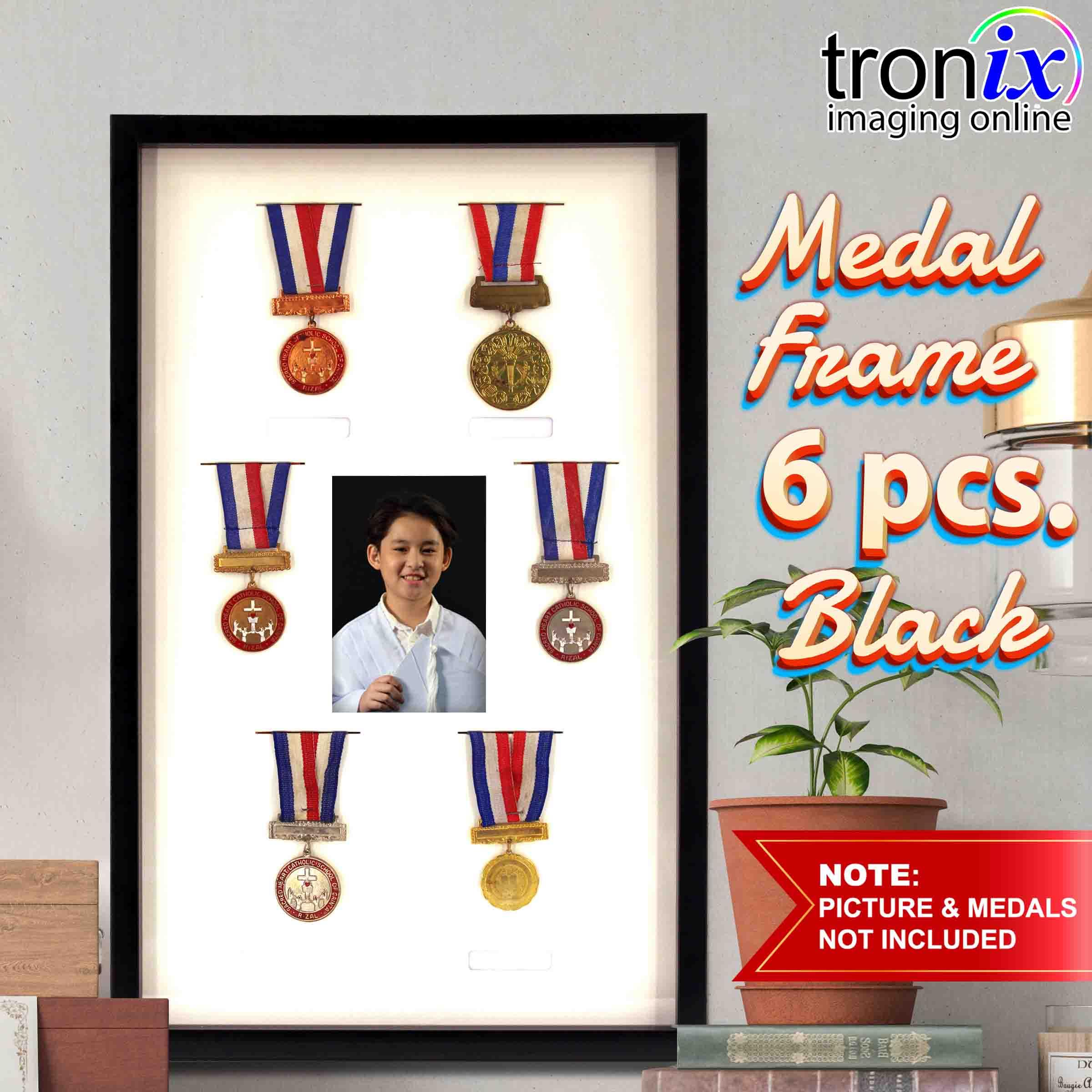 a1e691814d4 troniximaging Medal Frame 6pc. One(1) piece Medal Glass Frame for 6 pcs