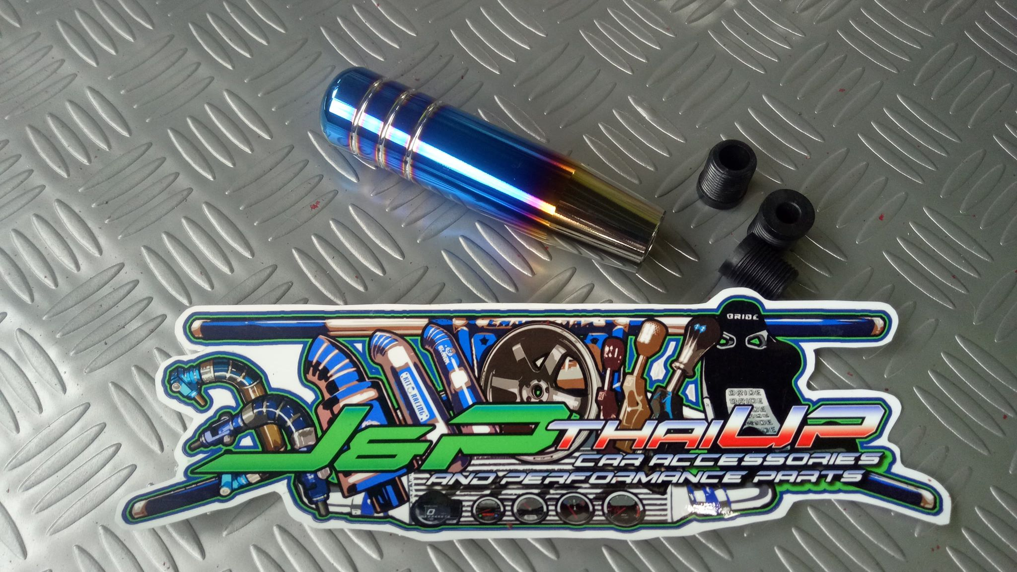 Blue Homyl 6 Colorful Crystal Bubble Transparent Shift Lever Extension