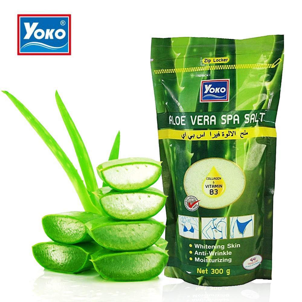 YoKo, YoKo Aloe Vera Spa Salt, YoKo Aloe Vera Spa Salt รีวิว, YoKo Aloe Vera Spa Salt ราคา, YoKo Aloe Vera Spa Salt 300 g., YoKo Aloe Vera Spa Salt 300 g. เกลือสปาขัดผิว