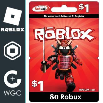 80 Robux Purchase With Roblox Card