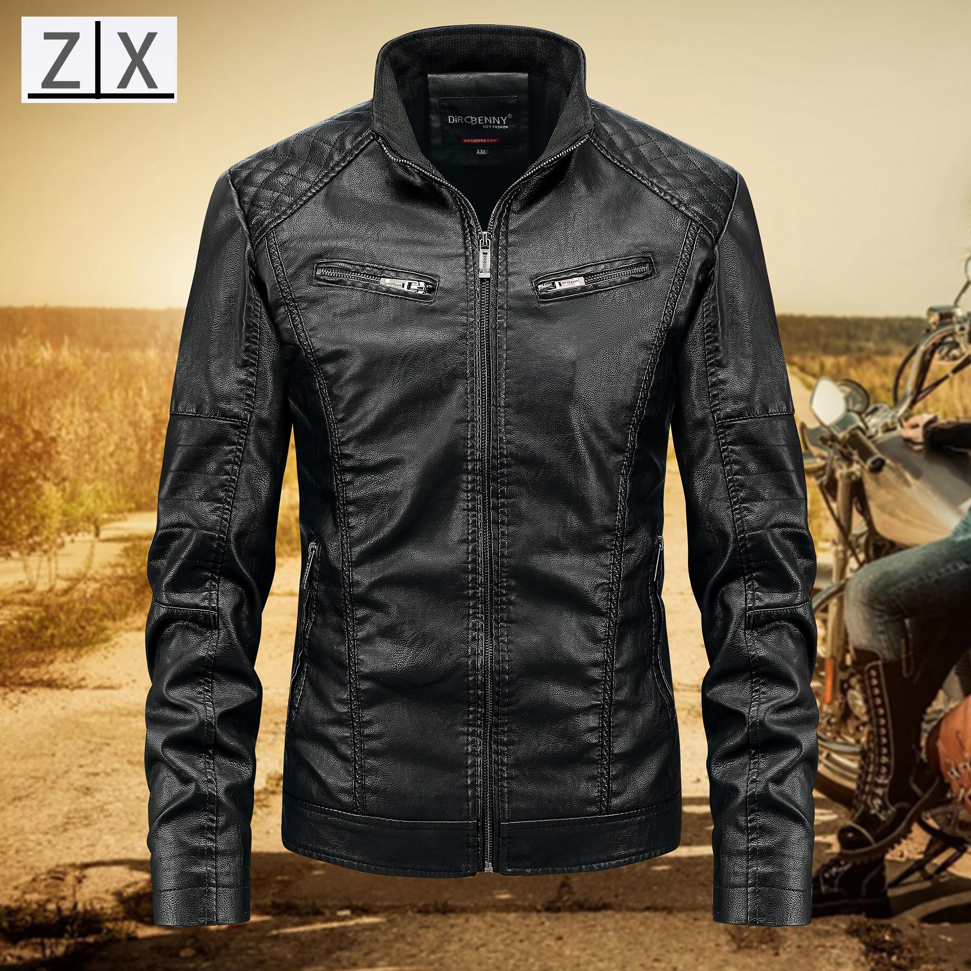 d2368b0dd USA MOTORCYCLE LEATHER JACKET FOR MAN Dircbenny