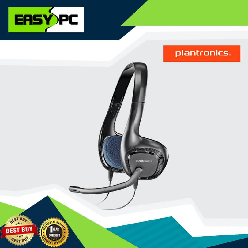 Plantronics Audio 628 Headset Black, Plan Tronics Audio 628 Headphone Noise  cancelling microphone Best seller for iCafe and Office use specially for