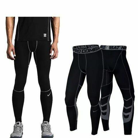 No.8003 (black W/grey) Compression Cool Dry Sports Tights Pants Baselayer Running Leggings Yoga Men Women By Cologosport.