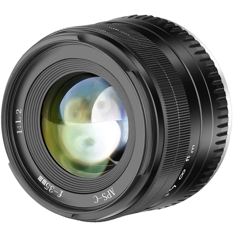 35Mm F1.2 Large Aperture Prime Aps-C Aluminum Lens For Fuji X Mounting Without Mirror X-A1 X-A10 X-A2 X-A3 X-M1 X-M2 X-T1 X-T1 X-T10 X -T2 X-T20 X-Pro1 X-E1 X-E2 X-E2 X-E2S