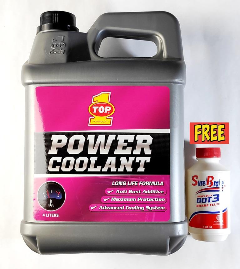 TOP 1 LONG LIFE RADIATOR POWER COOLANT PINK 4 LITERS