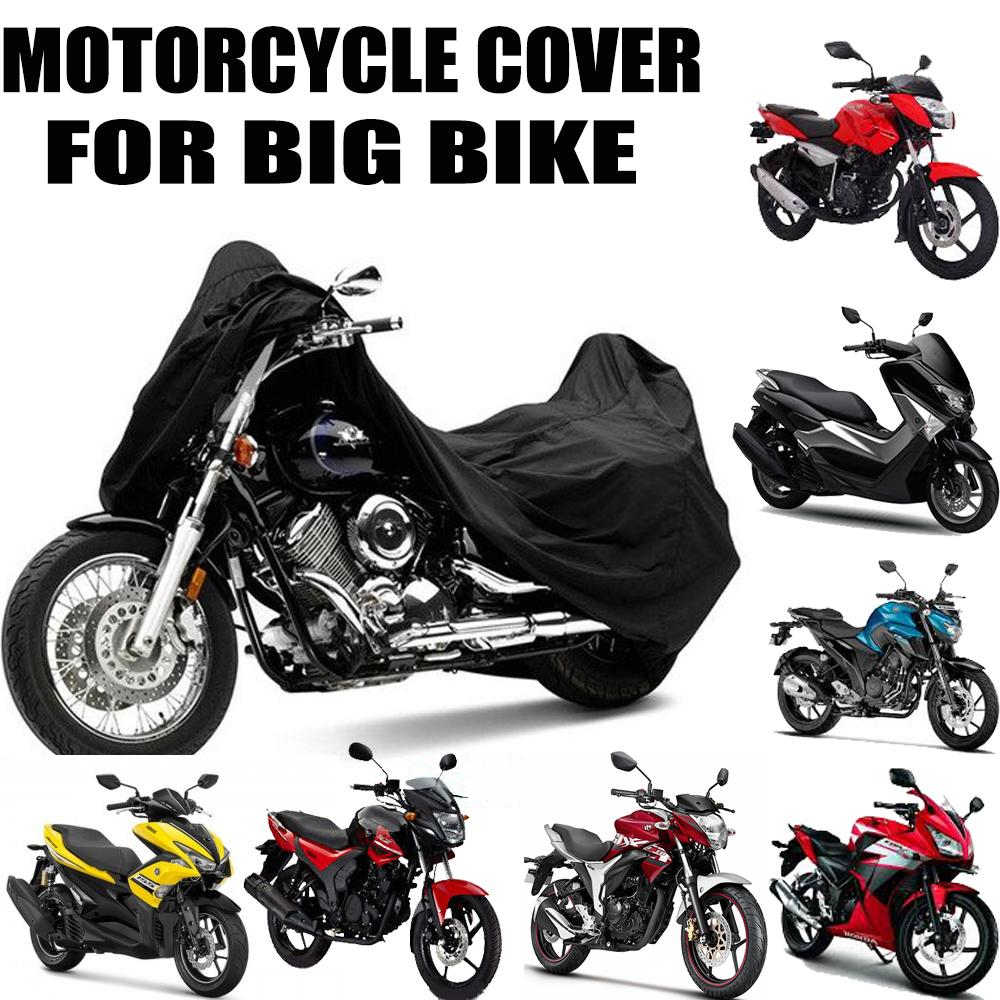cbe17e87faf Universal Waterproof Motorcycle Cover For All Motor (Black)