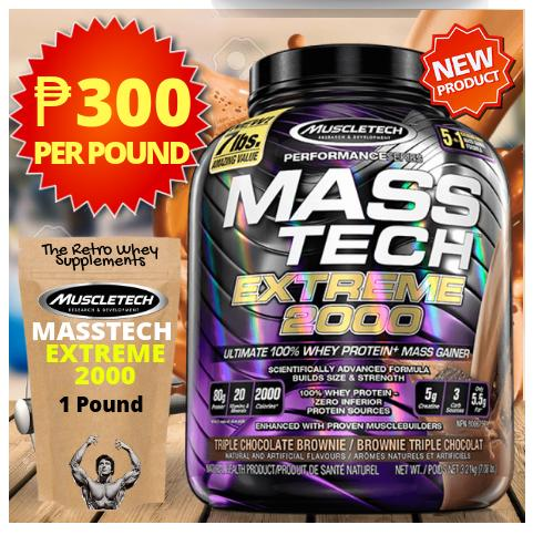Muscletech MassTech Extreme 2000 1lb  (Retail Pack) by The Retro Whey  Supplements