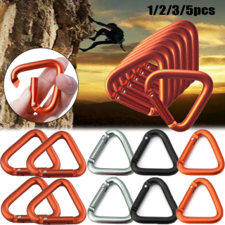 ALEXIS BAGS 1 2 3 5pcs 4 Colors Outdoor Tools Accessories Camping Hiking Keychain Kettle Buckles Water Bottle Hook Snap Clip Triangle Carabiner thumbnail