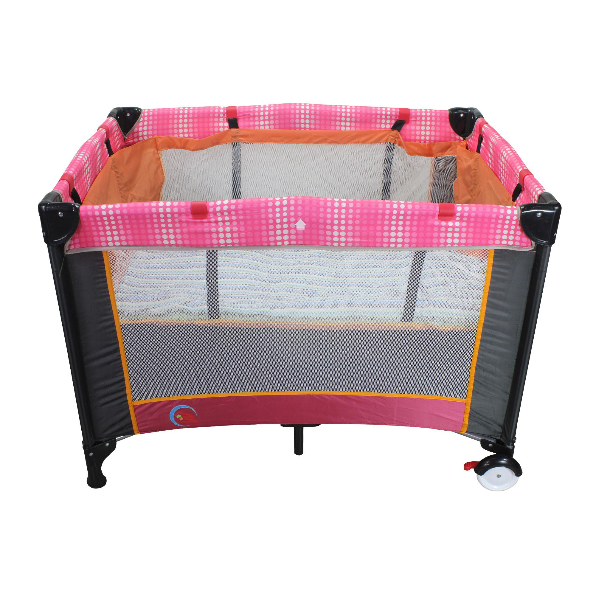 New Unicorn Baby Portable Foldable Playpen Play Yard Baby Crib  03(Pink black) ffd9c976e0