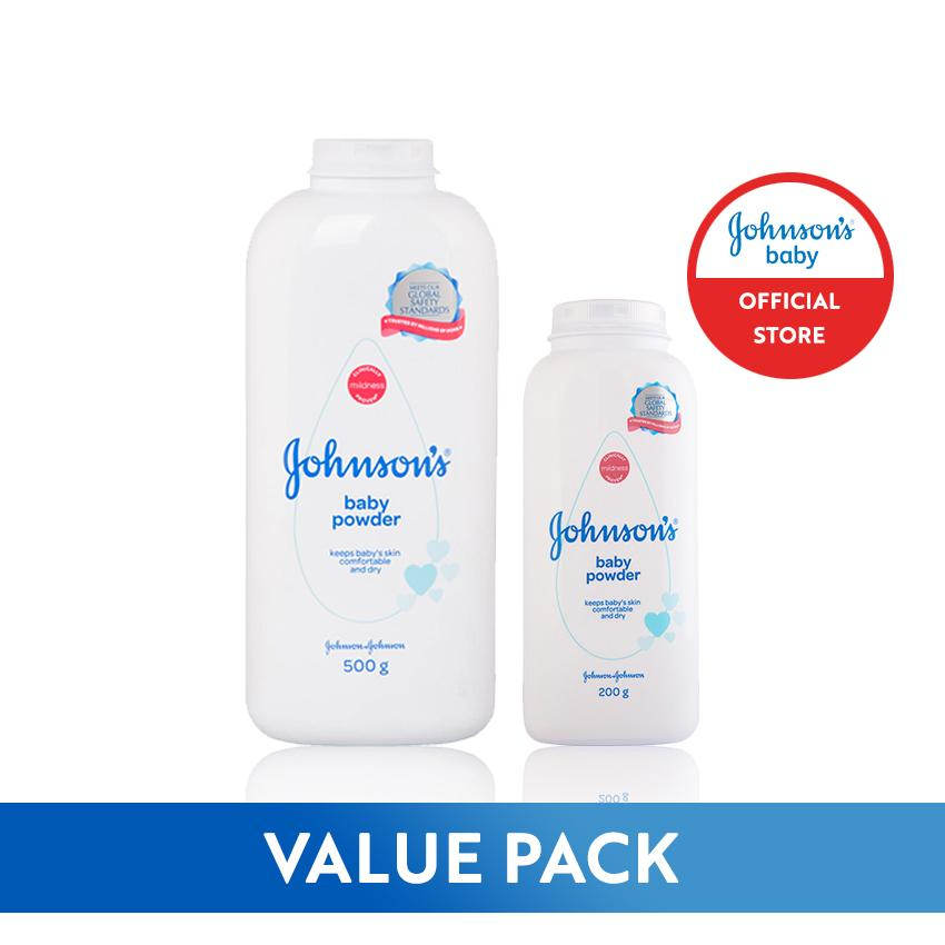 [promo] Johnsons Baby Powder 500g+200g Value Pack By Johnson & Johnson Ph Official Store.