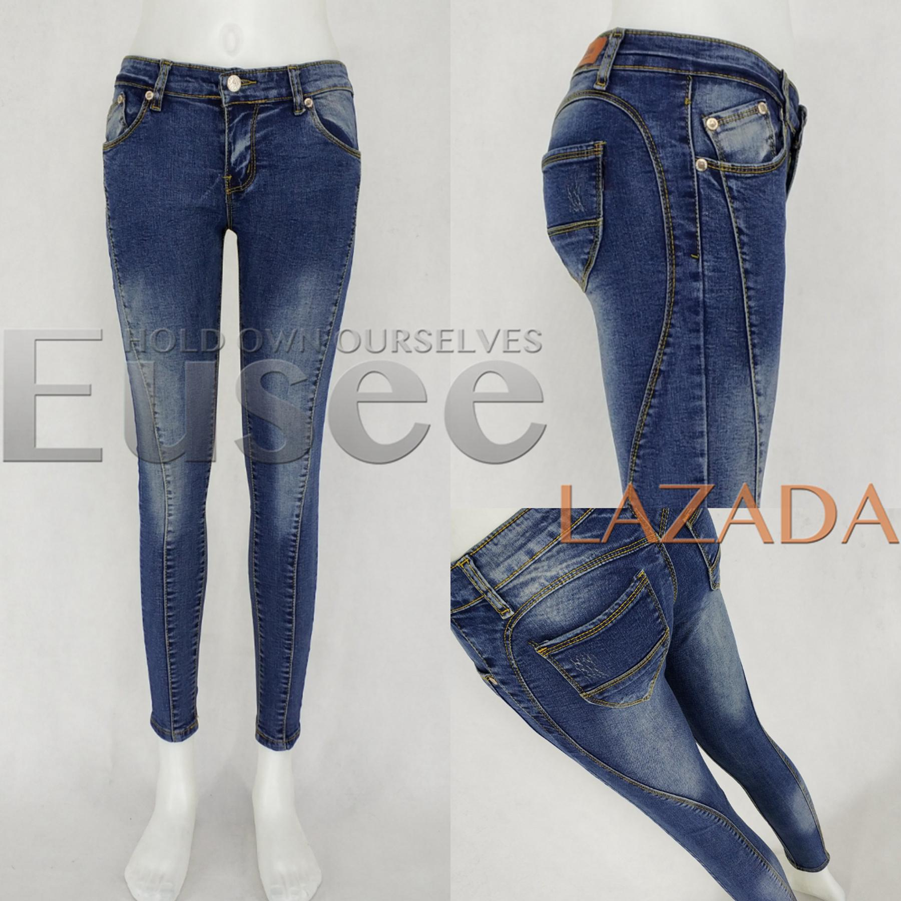 35093198869 Philippines. EUSEE Women vintage Jeans Skinny Low Waist Stretch Pants