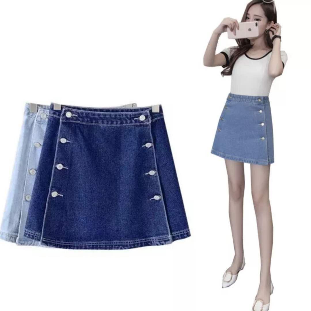9be585206b Plus Size Denim Skirts Cheap