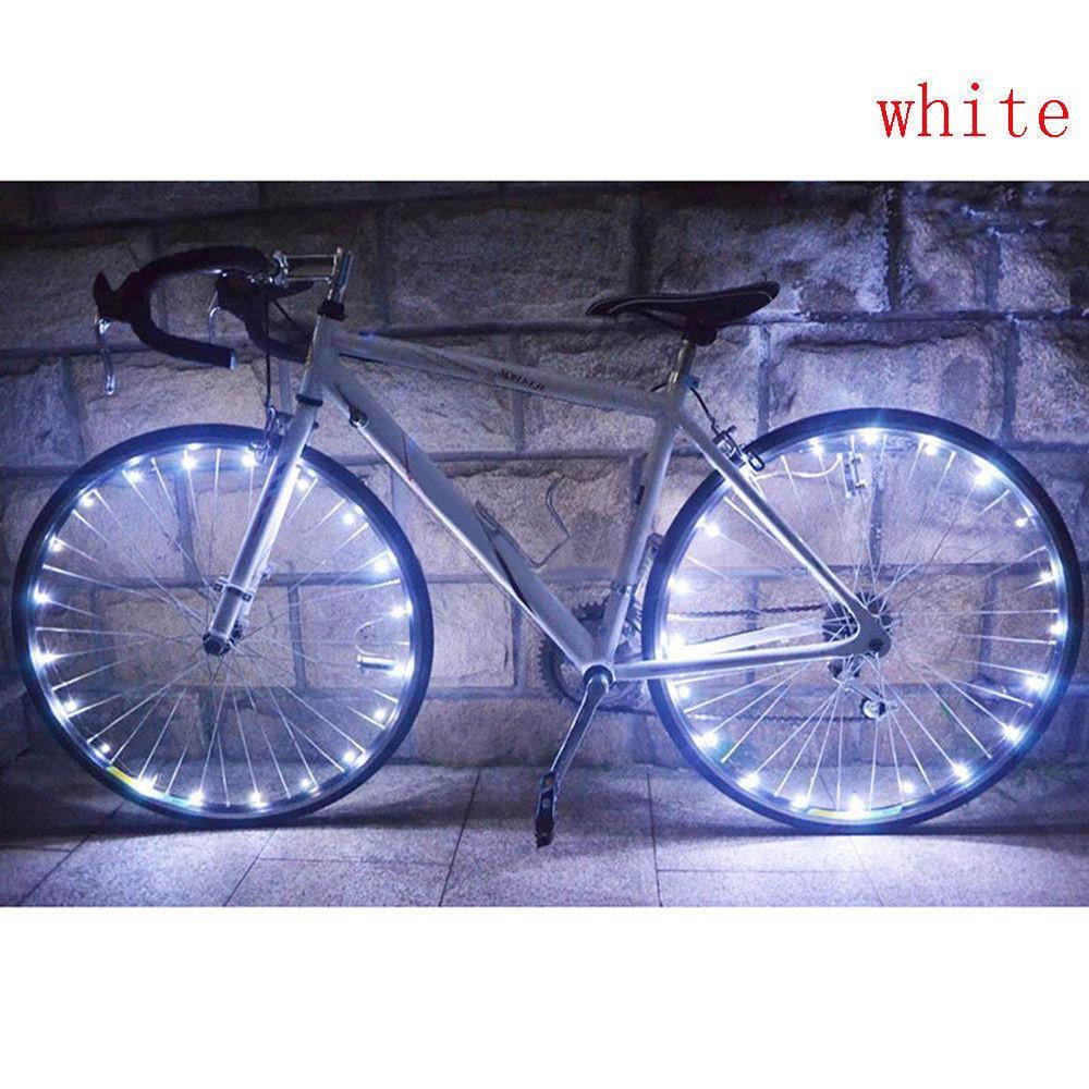 Mua 20Led Thép Không Gỉ Đèn Xe Đạp Đi Đêm Dây Đèn Đèn LED Gắn Bánh Xe