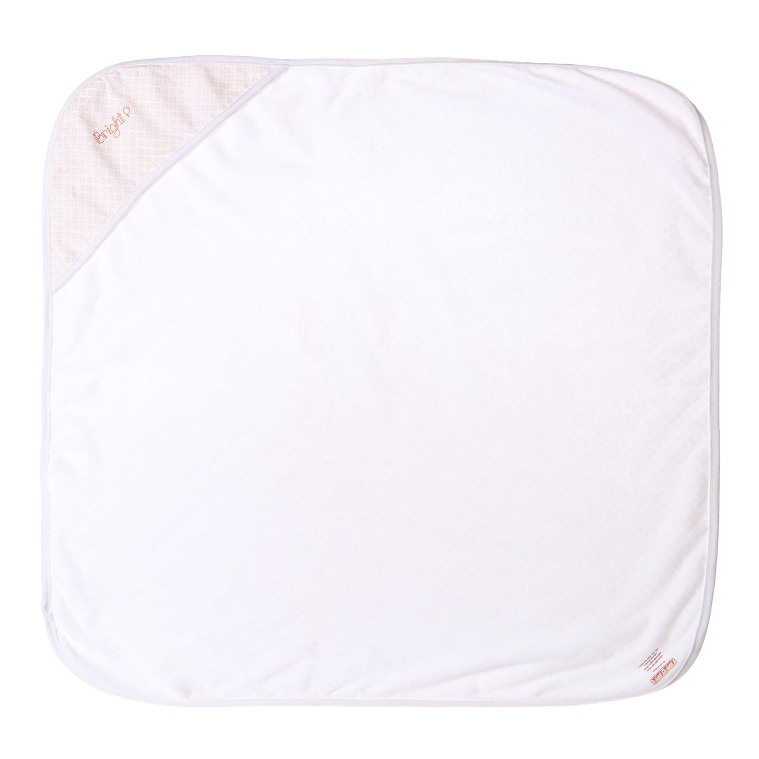 Hush Hush Baby Babies Bright Hooded Blanket 72 X 72cm In Cream By The Sm Store.