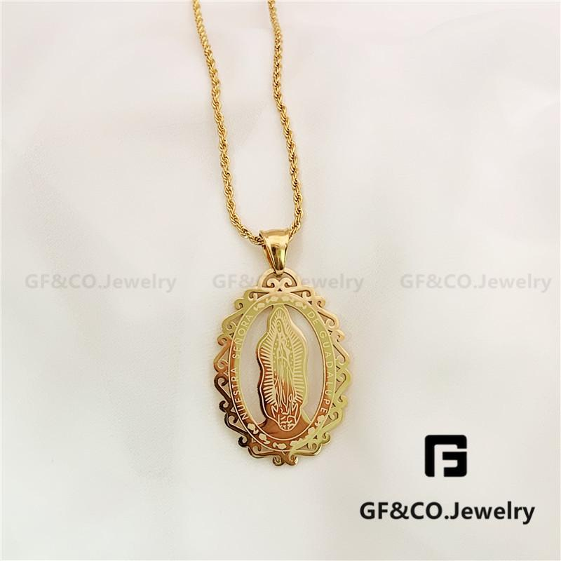 8a1d752a29886 GF&Co. High Quality Gold Plated Big Pendant Necklace N0159 N0127 N0093 N0124