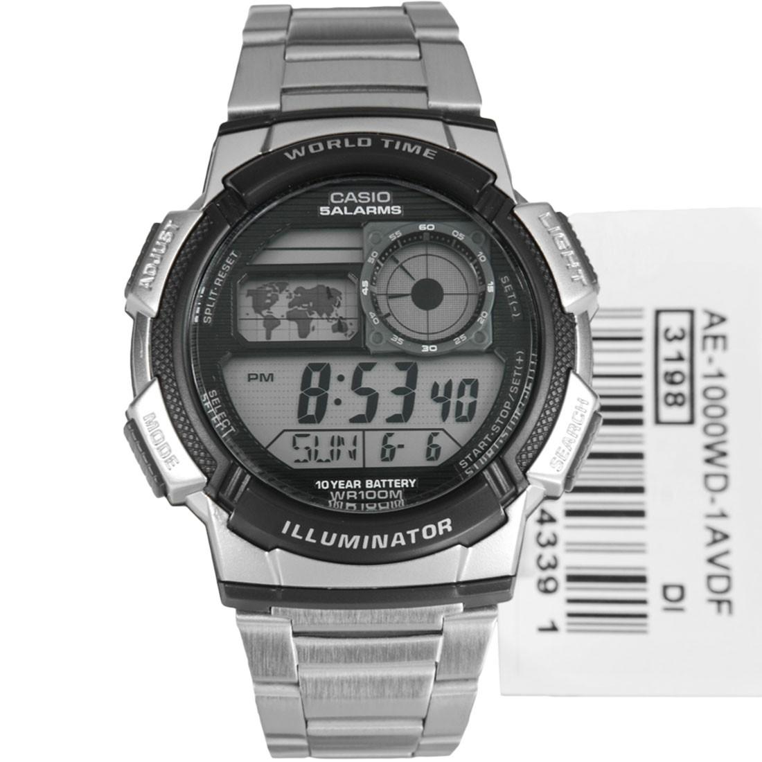 efaa87e61b1 Casio Illuminator Sports Digital Men s Silver Stainless Steel Watch AE -1000WD-1AVDF
