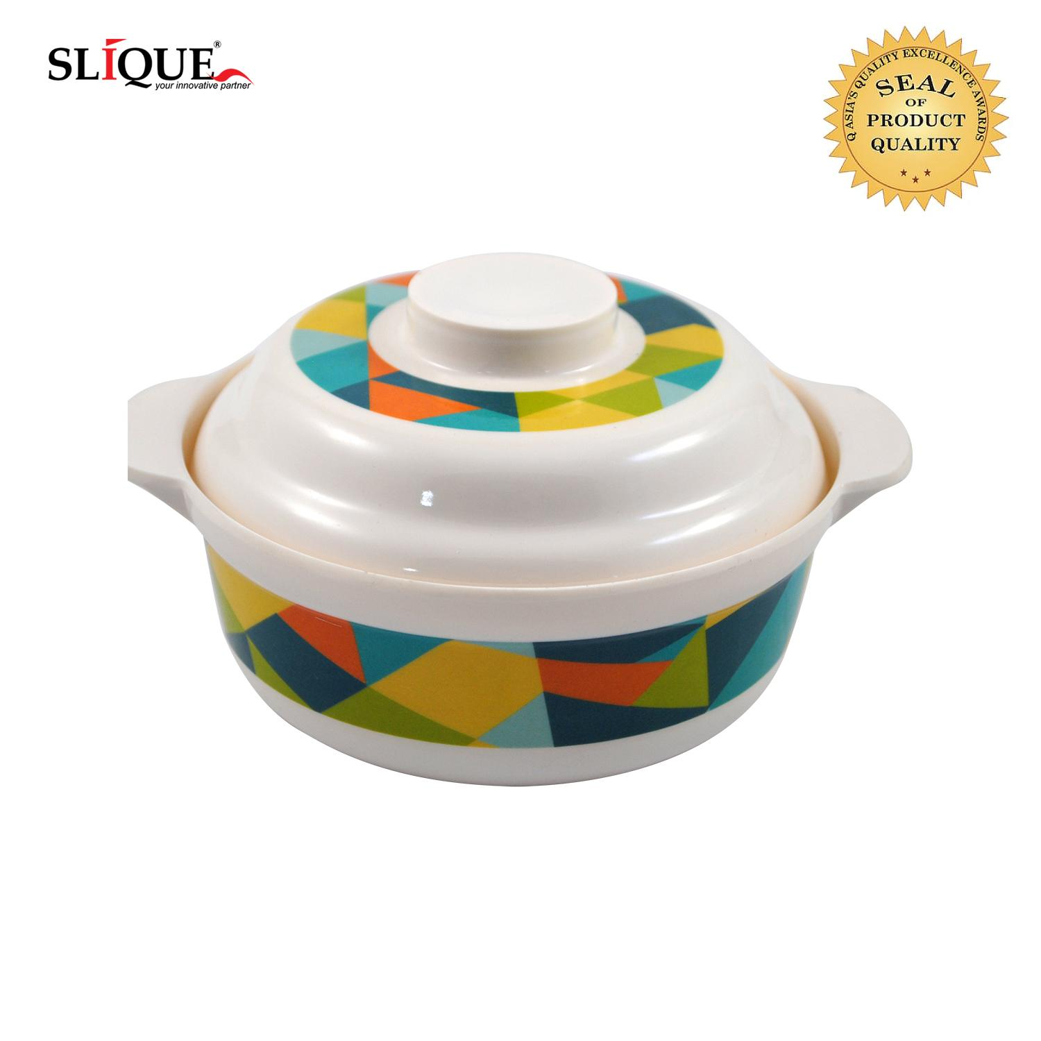 Slique Melamine Serving Bowl With Lid 6.5 Inch By Sunbeams Impex Inc..