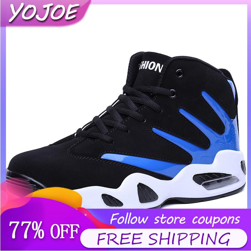 e19c1a98974 Basketball Shoes for Women and Men High-slip Non-slip Couple Shoes Outdoor  Casual Shoes Fashion Sports Air Cushion Shoes