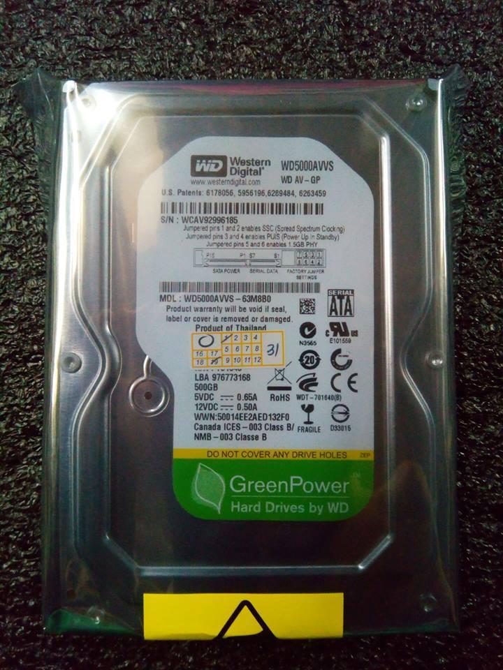 WD 500gb Hard disk Drive