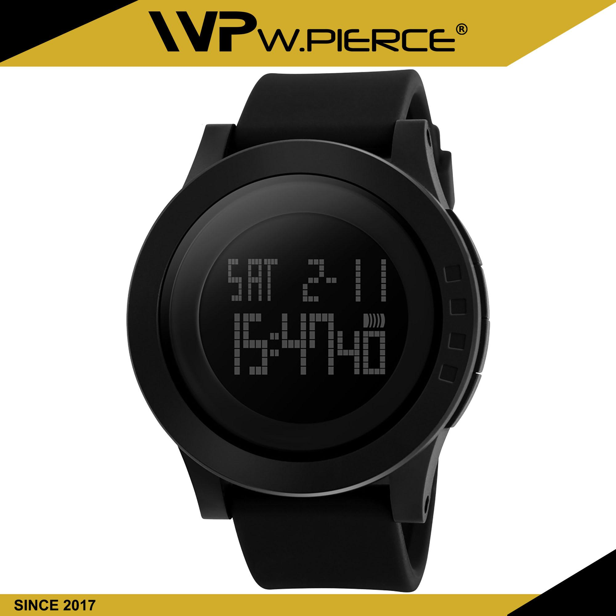 ce5b2d9a9b1d7 WPierce 1142 BLACK Watch Men Military Sports Watches Fashion Silicone  Waterproof LED Digital Watch For Men