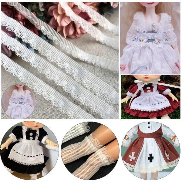 LG01I9 Chất lượng cao DIY May Guipure Đồ chơi ruy băng Chất liệu vớ búp bê Mạ vải ren Trang trí cổ áo Đồ trang trí cho búp bê Ren đàn hồi