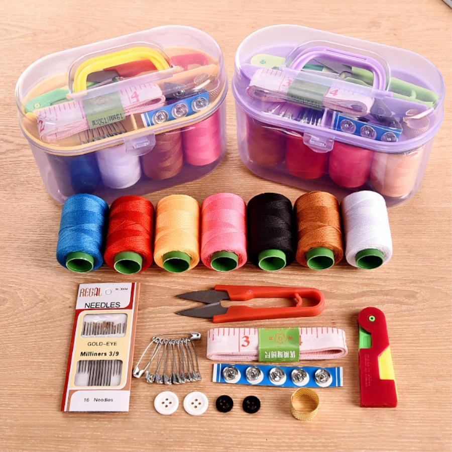 Sewing Kit Needle Box Set 10 In1 Household Sewing Tools Portable Sewing Kit By Kk One.