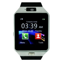 F9 Bluetooth Smartwatch Phone with Camera (Silver)