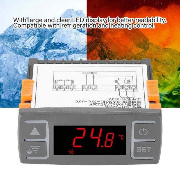Digital Mh1210E Ac220V All-Purpose Digital Refrigerator Temperature Controller Thermostat , -50℃-50℃