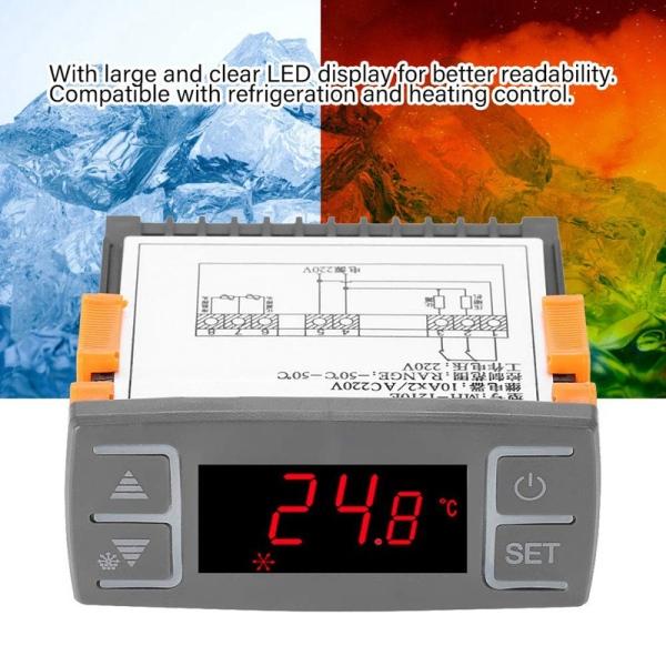 Digital Mh1210E Ac220V All-Purpose Digital Refrigerator Temperature Controller Thermostat , -50℃-50℃