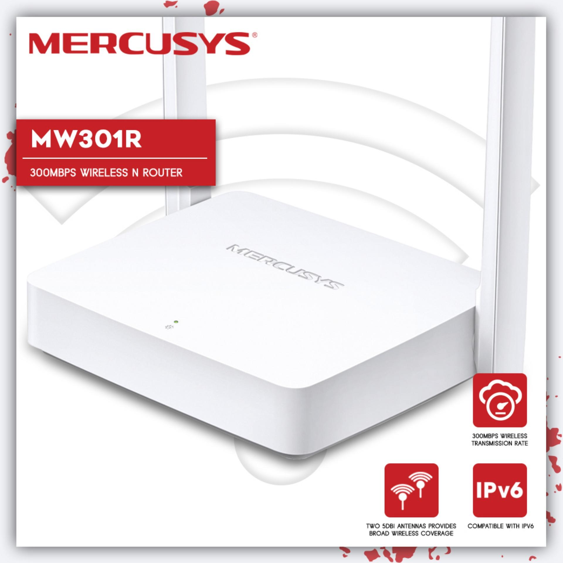 TP-Link Mercusys MW301R 300Mbps Wireless N Router Two 5dBi Antennas